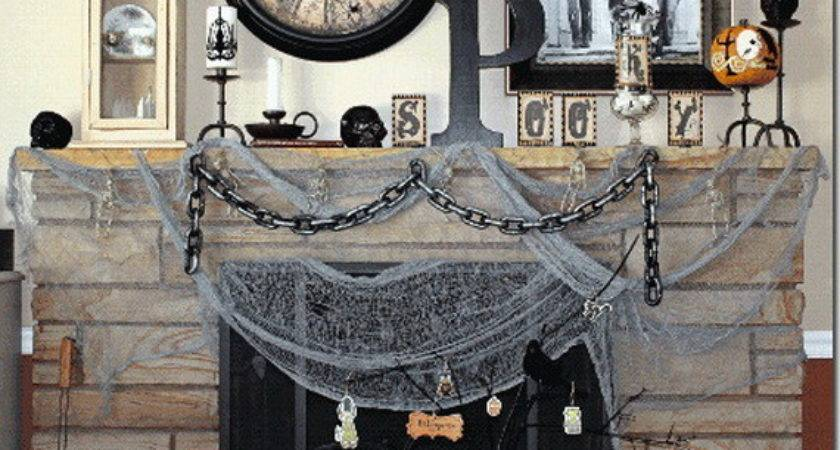 Elegant Halloween Cor Ideas Mantel