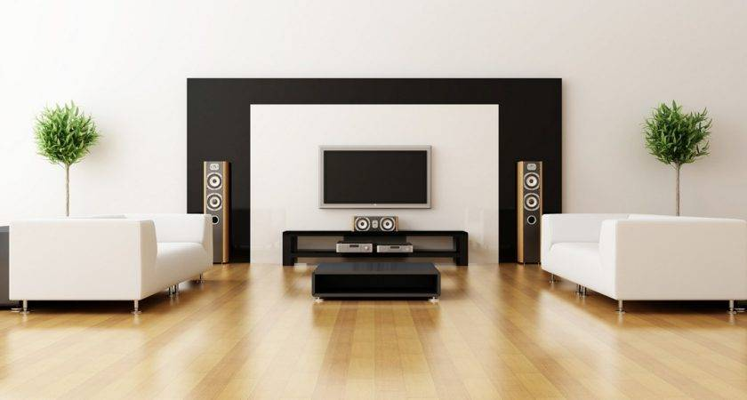Elegant Minimalist Ideas Black White Living
