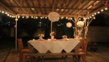 Elegant Party Table Decorating Ideas Photograph Outdoor