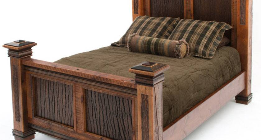 Elegant Rustic Bed Barnwood Furniture Unique Refined Design