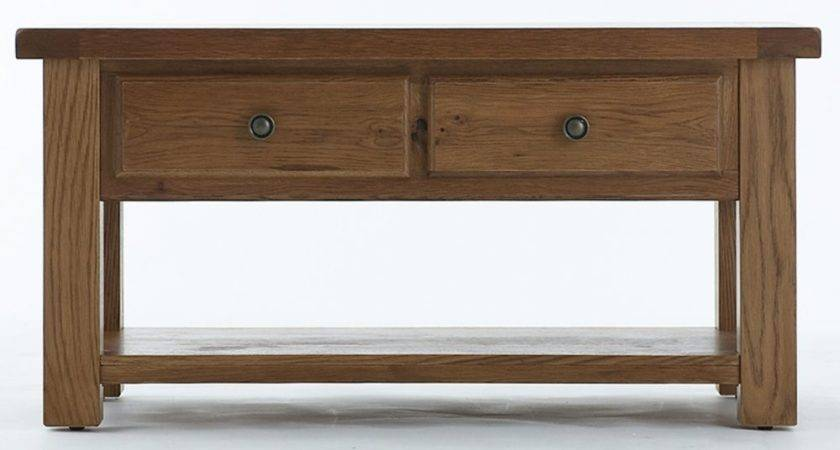 Emporium Home Bretagne Rustic Oak Storage Coffee Table
