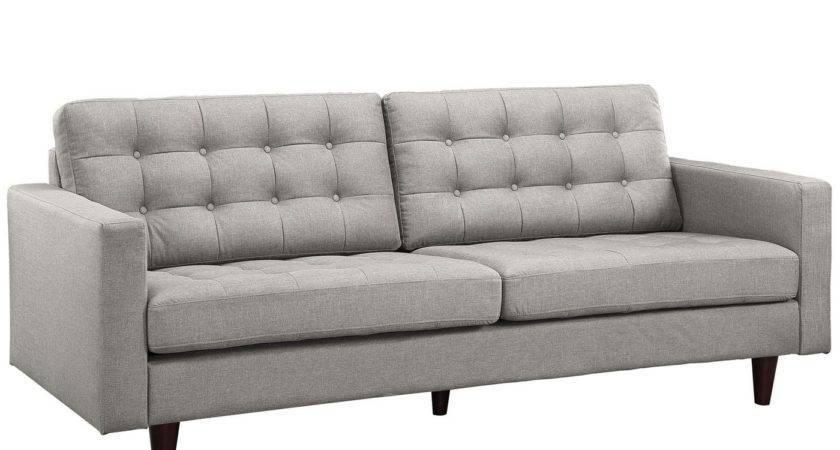Empress Modern Button Tufted Leather Sofa Armchair