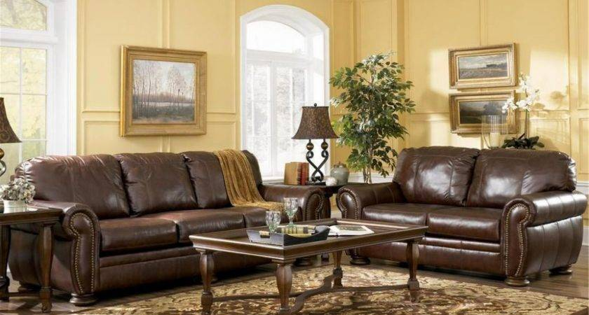 Enchanting Decorating Living Room Brown Leather