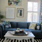 Enchanting Navy Blue Sofa Living Room Design