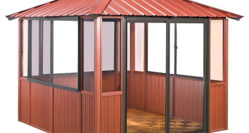 Enclosed Gazebo Plans Top Lowes Canada Canopies