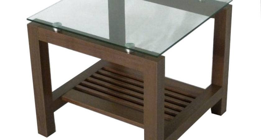 End Glass Top Side Tables Simple Dining Room