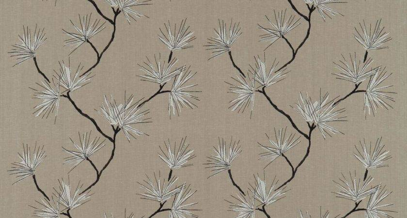 Entwine Fabric Charcoal Grey Stone Harlequin
