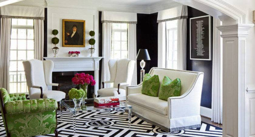 Epic Black White Green Living Room Ideas Long Homes Decor
