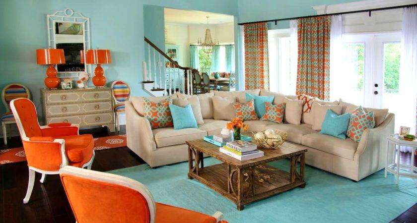 Epic Grey Orange Living Room Awesome Blue Gray