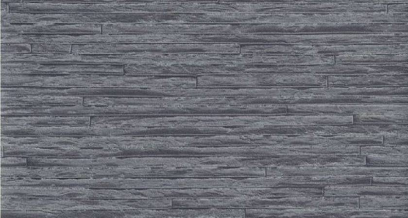 Erismann Brix Slate Brick Effect Grey Black