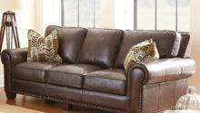 Escher Top Grain Leather Sofa Accent Pillows