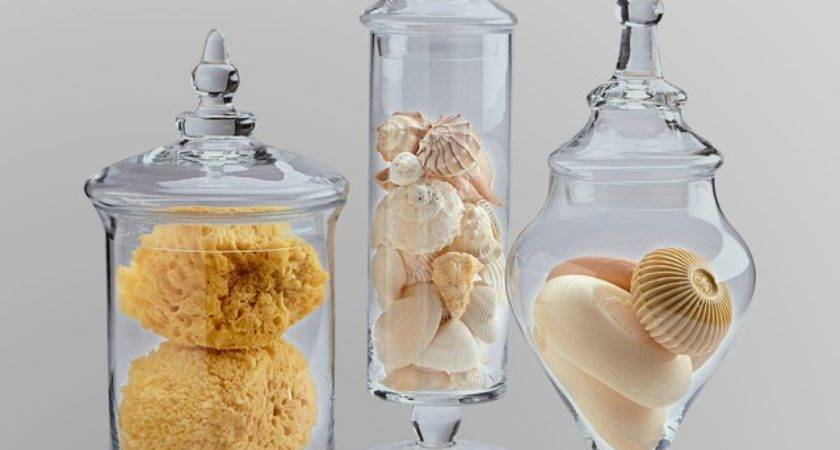 Essential Home Piece Glass Apothecary Jars Traditional