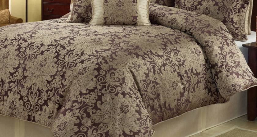 Ethel Gold Purple Piece Floral Comforter Set