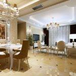 European Luxury Dining Living Room Interior Design