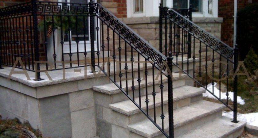 Exceptional Wrought Iron Stair Railings Exterior