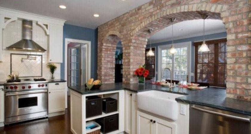 Exposed Brick Wall Kitchen Designs