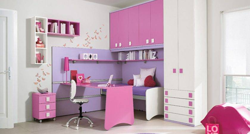 Exquisite Pink Purple Decor Shaped White Wall