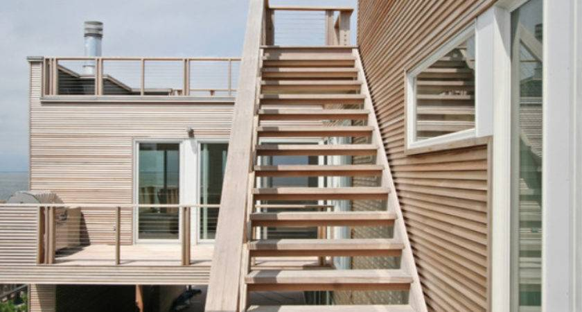 Exterior Wooden Stairs Design Home