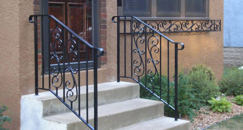 Exterior Wrought Iron Handrails Steps