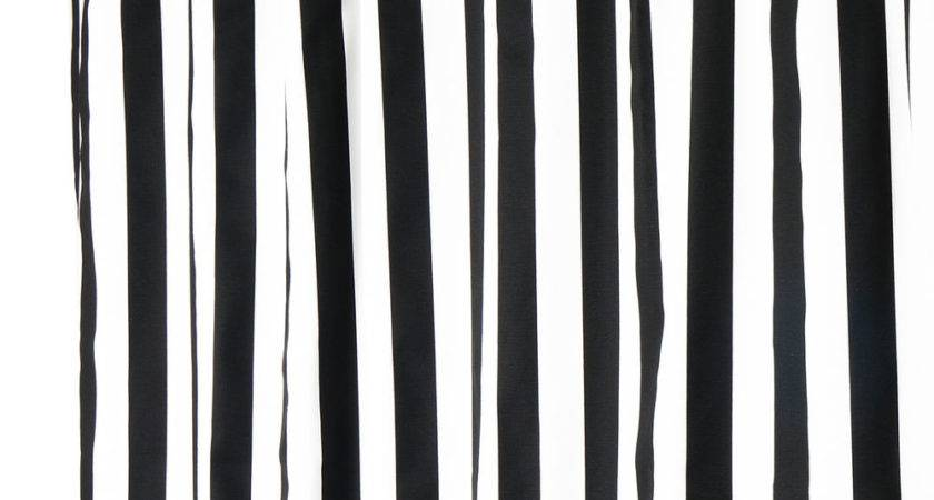 Extra Long Shower Curtains Black White Curtain
