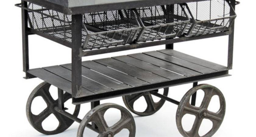 Factory Station Cart Industrial Kitchen Islands