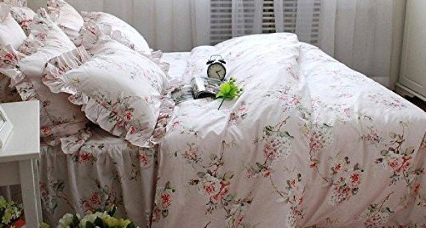 Fadfay Home Textile Shabby Floral Print Bedding Set