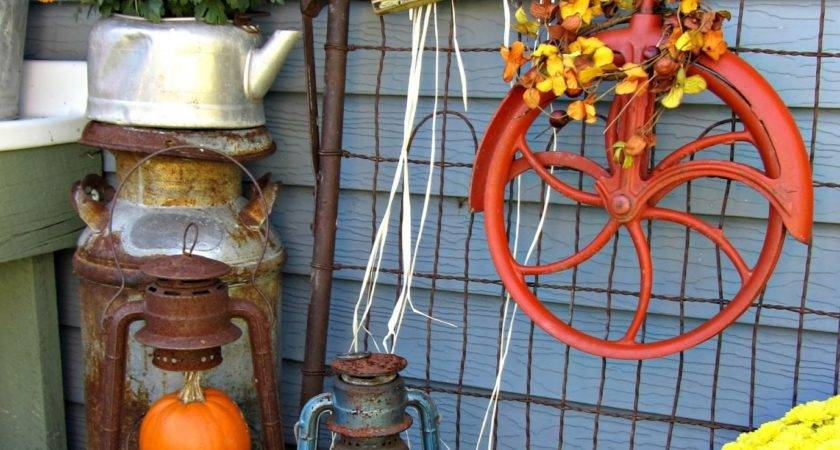 Fall Outdoor Decor Salvage Style Event Organized Clutter