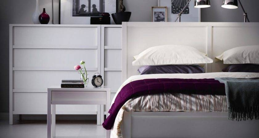 Fancy Contemporary Bedroom Interior White Furniture