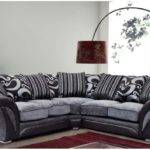 Farrow Corner Sofa Armchair Faux Leather Fabric Black