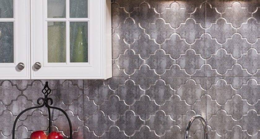 Fasade Monaco Crosshatch Silver Backsplash Panel Sheet