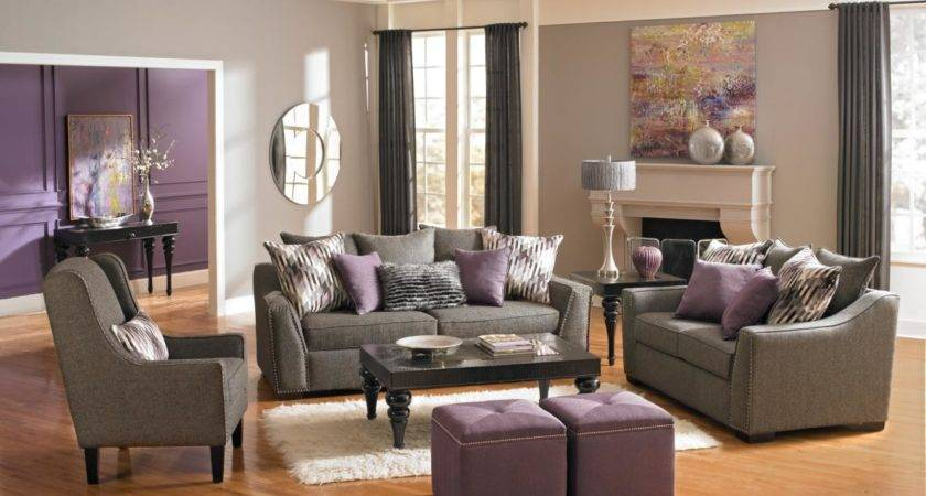 Fascinating Plum Gray Living Room Home