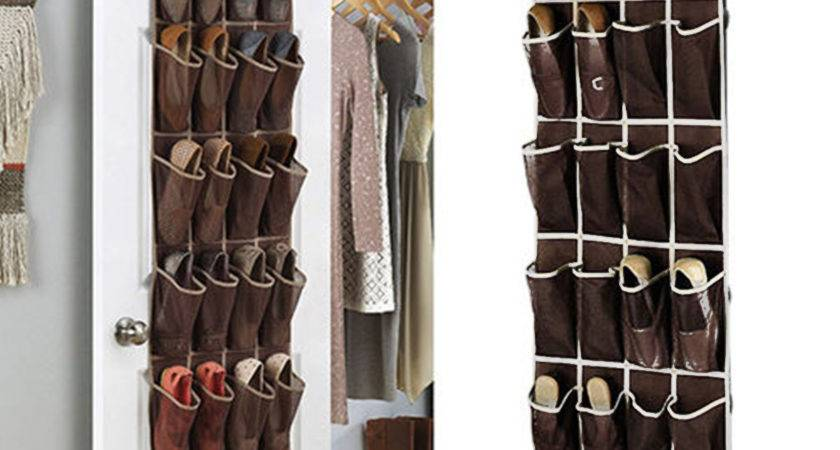 Favorable Pockets Space Door Hanging Shoes Organizer