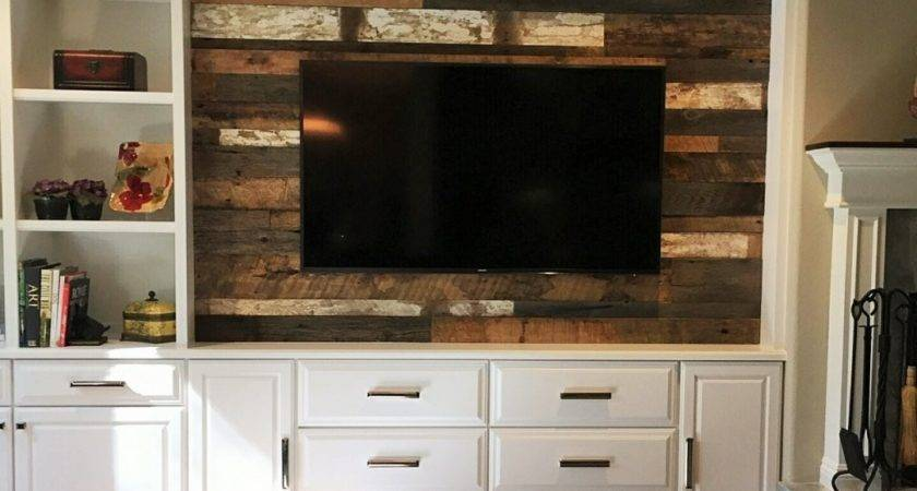 Feature Wall Design Ideas Painted Wood Accent Behind