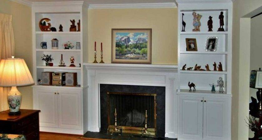 Fireplace Surrounds Bookcases Two Fireplaces