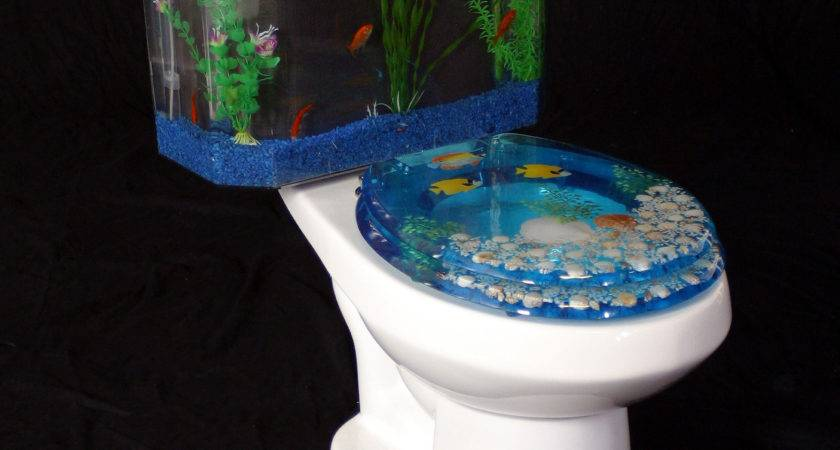 Fishnflush Fish Flush Toilet Tank Aquarium Water Closet