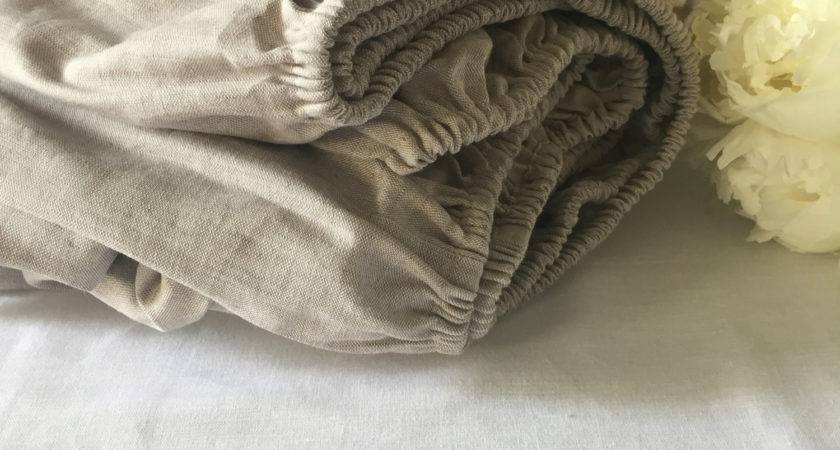 Fitted Sheet Pure Linen Bedding