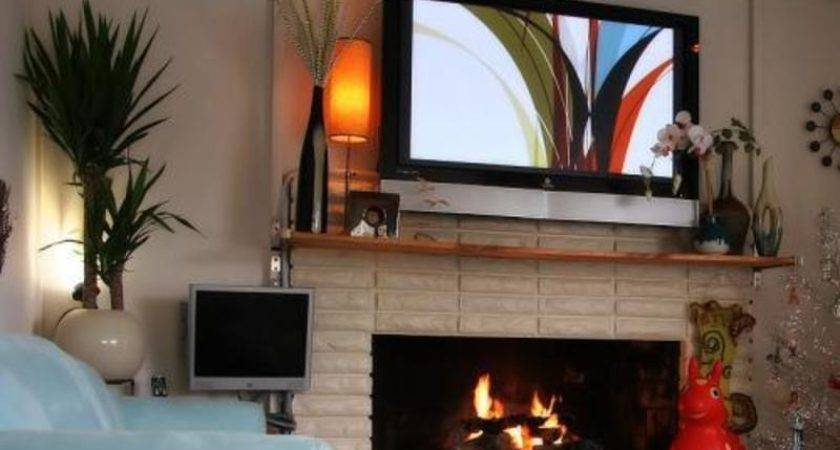 Flat Screen Over Fireplace Ideas Making Look