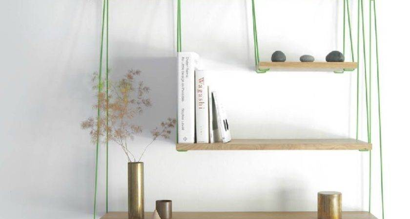 Flexible Ways Decorate Hanging Shelves