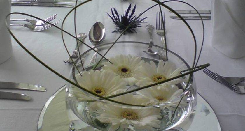 Floating Germini Fishbowl Centerpiece