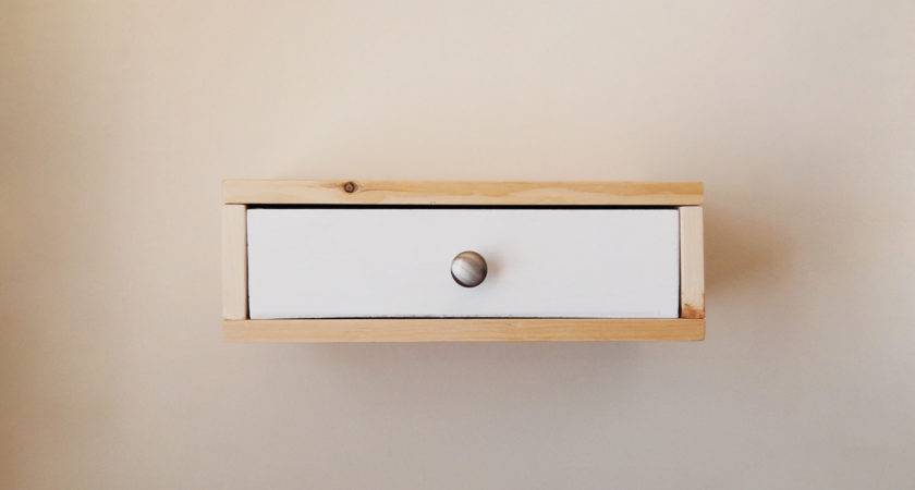 Floating Nightstand Wall Shelf Color Drawer