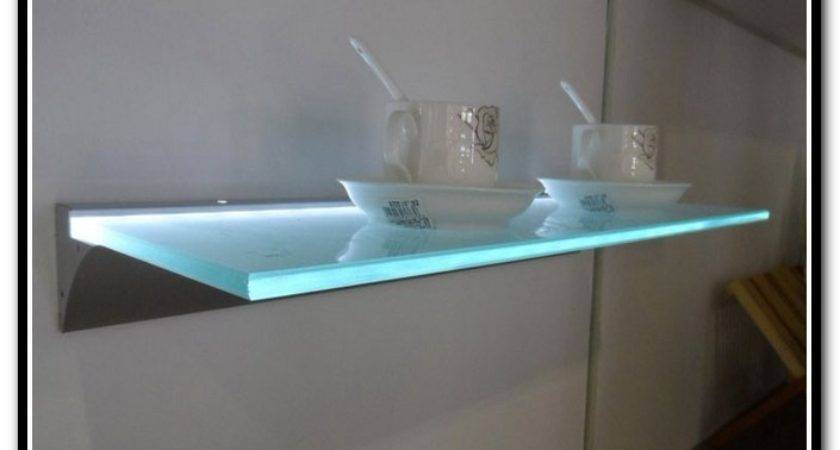 Floating Shelf Glass Fitueyes Tempered