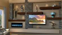 Floating Shelves Custom Media Wall Design Dagr