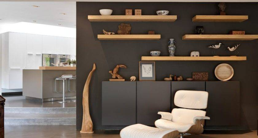 Floating Shelves Dining Room Living Contemporary