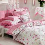 Floral Pink Cottage Bedding Set Custom King