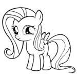 Fluttershy Coloring Pages Best Kids