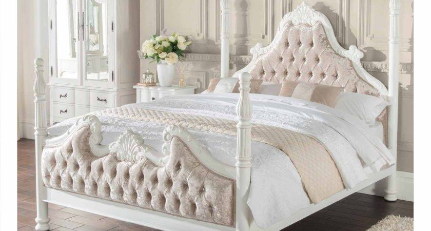 Four Poster Antique French Style Bed Shabby Chic Bedroom