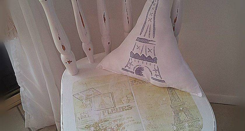 French Beach Shabby Chic Bedroom Chair