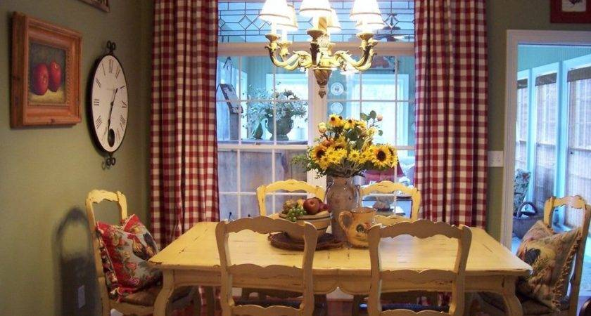 French Country Blue Yellow Decor Living Room