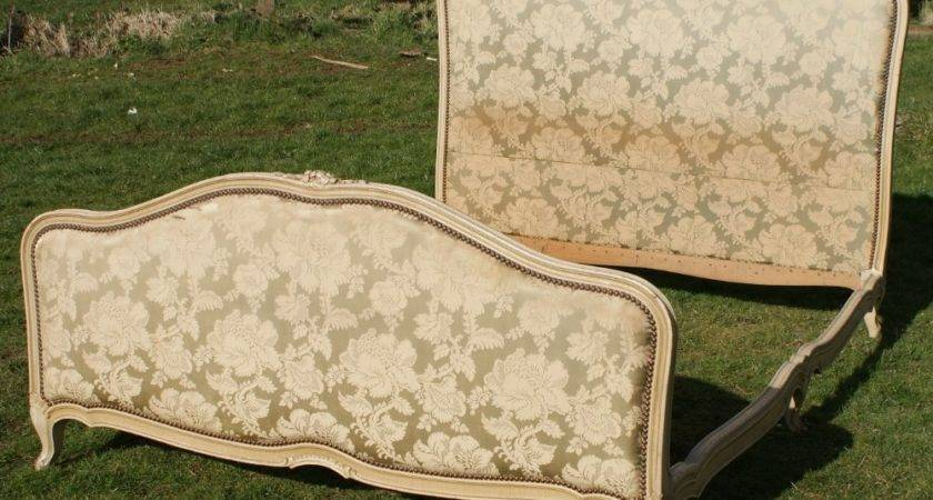 French King Shabby Chic Upholstered Bed