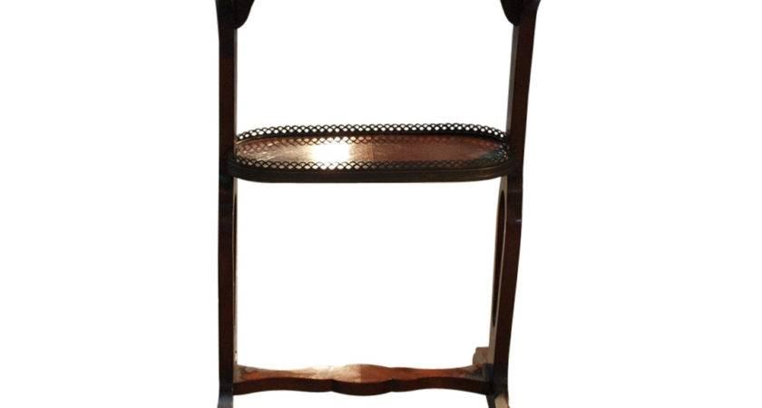 French Louis Xvi Style Marble Top Mahogany Side Table